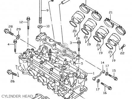 Gasketcylinder Head For Gsxr600 1999 X