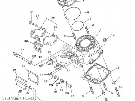 Yz 125 Parts Diagram