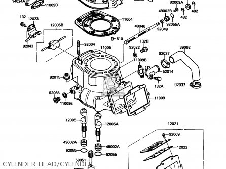 Kawasaki 1990 Kx250 H1 Kx250 Motocross Motorcycle Parts