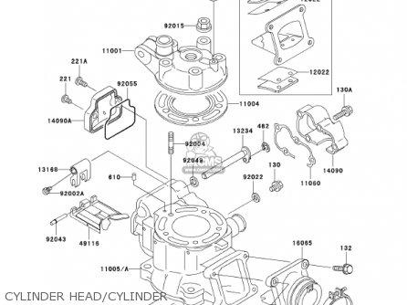 Cylinderengine Kx100d1 Kx100 2001 Usa Canada 110051943 – Kx 100 Engine Diagram