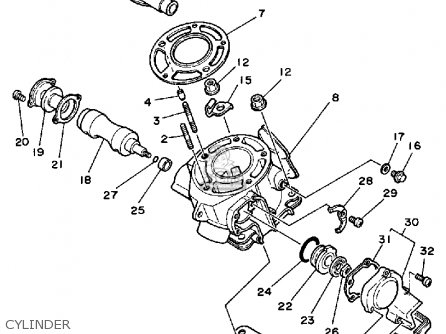 Yz 125 Engine Diagram