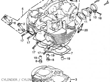 Cylinder Comp For Cb500t Twin Dohc 1976 Usa