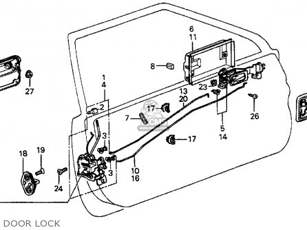 car door lock schematic