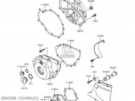 Kawasaki 1993 Ex500 A7 Ex500 Sportbike Motorcycle Parts