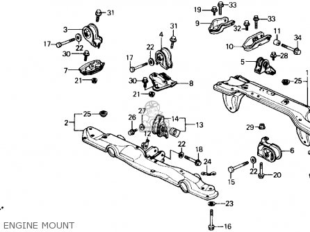 Rear Beam Lhps For Civic 1990 L 4dr Dx Kakl