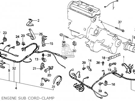 Sub Wire Engine For Accord 1987 H 4dr Dx Ka