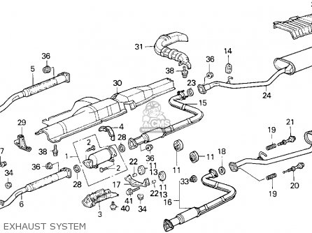 slncr comp,exh, fits accord 1989 (k) 2dr lxi (ka,kl) order at cmsnl 2004 malibu exhaust system diagram slncr comp, exh photo the accord 1989