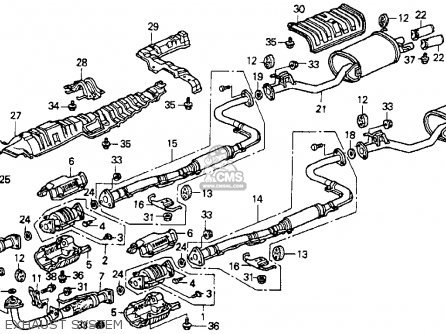 1990 honda accord exhaust diagram explore schematic wiring diagram \u2022 1989 honda accord exhaust diagram stay ex pipe fits accord 1990 l 4dr lx ka kl order at cmsnl rh cmsnl com 1998 honda accord diagram gasoline 1998 honda accord parts diagram