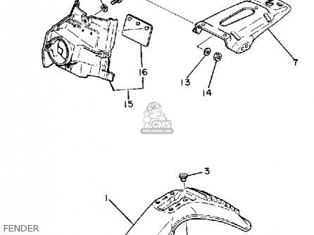 Fender Front Chakushoku For Xt250 Dual Purpose 1980 A Usa