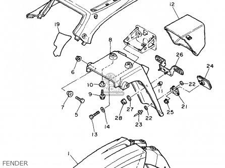 Yamaha 1987 Xt600t Xt600 Dual Purpose Motorcycle Parts