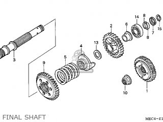 SHAFT,FINAL GEAR