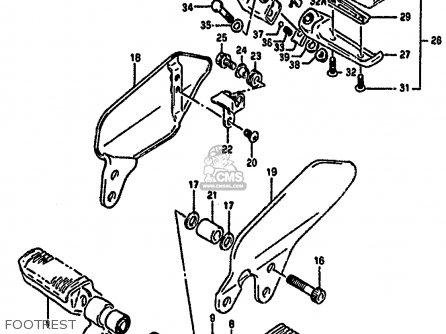 honda motorcycle parts kawasaki suzuki and yamaha motorcycle parts Engine Diagram with Labels footrest assembly pillion