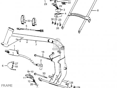 WIRE HARNESS for MR50 ELSINORE 1974 K0 USA - order at CMSNLCmsnl.com