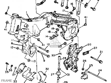 frame_mediumyau0867d 1_150a rear frame comp xv920r virago 1982 (c) usa 5a8211900133 1982 yamaha virago 920 wiring diagram at panicattacktreatment.co