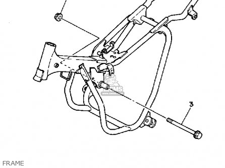 Frame Comp For Pw50 1986 G Usa