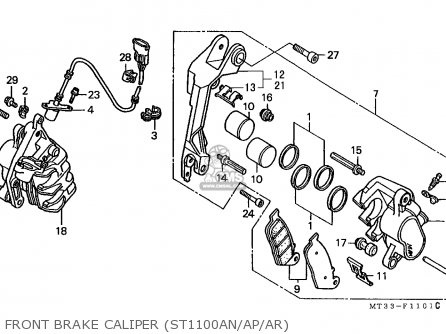 1995 Honda Sport Touring Motorcycle on honda st1100 wiring diagram