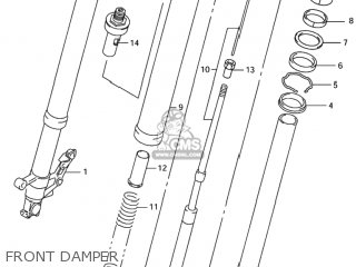 Damper Assy, Front Fork Lh photo