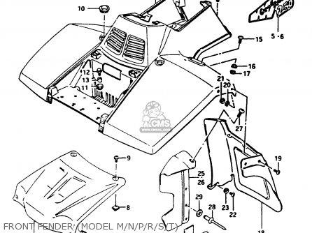 Emblemfront Fender For Lt F250 Quad Runner 1989 K