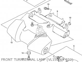 Cover, Front Turnsignal photo