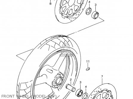 Wheel, Front (17xmt3.50)( photo