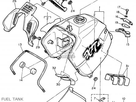 Yamaha 1990 Xt600a Xt600 Dual Purpose Motorcycle Parts