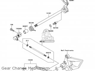(132420050) LEVER-ASSY-CHANGE,PED