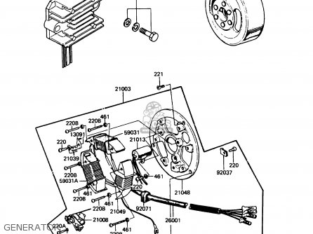 Magneto Wiring Harness For Ke100 A9 Ke100 1980 Canada