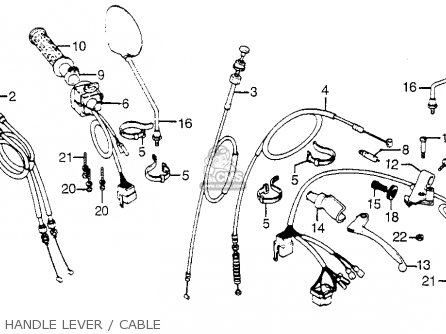 (17910-425-405) Cable A, Throttle photo