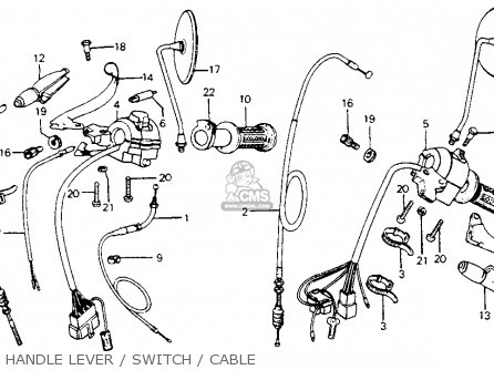1980 honda cm200 wiring diagram switch assy., stop for cm200t twinstar 1980 (a) usa ... #9