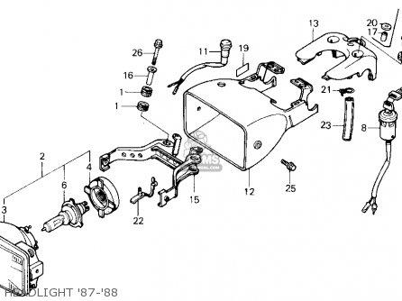 cap headlight case fits trx250x fourtrax 250x 1988 j usa order rh cmsnl com 87 honda trx250x wiring diagram 1987 trx250x wiring diagram