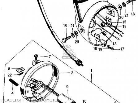 (44830-126-651) CABLE,SPEEDOMETER