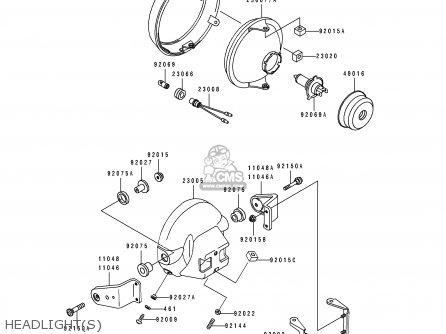 (110481315) BRACKET, HEAD LAMP, LH