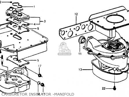 Honda Accord 1976 3dr Std ka Carburetor Insulator -manifold.