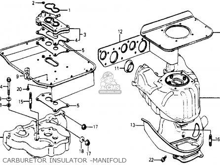Honda Accord 1977 3dr Std kh ka kl Carburetor Insulator -manifold.