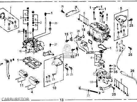 Honda Accord 1977 3dr Std kh ka kl Carburetor.