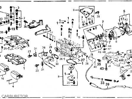 Honda Accord 1978 3dr Lx kh ka kl Carburetor.