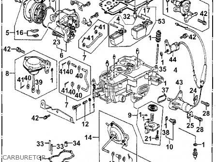 Honda Accord 1981 4dr Se ka kh kl Carburetor.