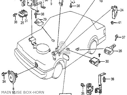 Honda Accord 1982 C 3dr Lx Klkakh Parts Lists And Schematics
