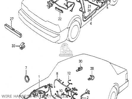 Honda Accord 1983 D 4dr Dx Ka Parts Lists And Schematics