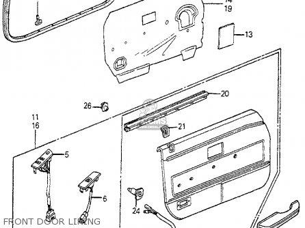 Honda Accord 1983 D 4dr Se Kakl Parts Lists And Schematics
