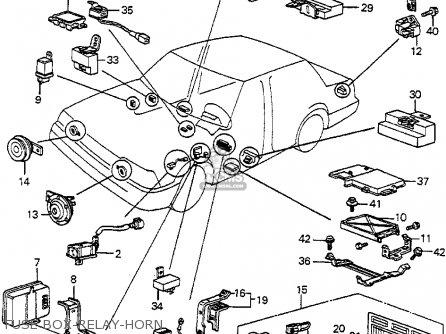 honda accord 1984 3dr s (ka) parts list partsmanual partsfiche 1984 honda accord fuse box 1984 honda nighthawk fuse box