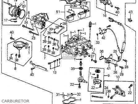 Honda Accord 1985 4dr Lx ka kh kl Carburetor.