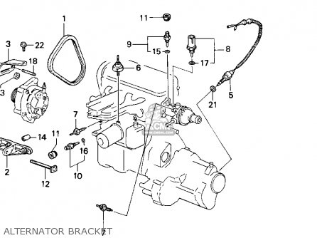 Honda Accord 1986 3dr Lxi Non-passive ka Alternator Bracket