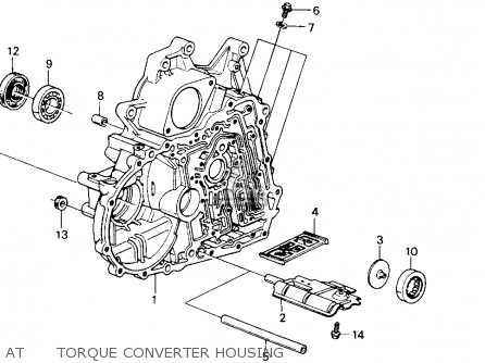 Honda Accord 1986 3dr Lxi Non-passive ka At      Torque Converter Housing