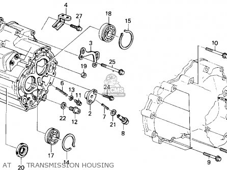 Honda Accord 1986 3dr Lxi Non-passive ka At      Transmission Housing