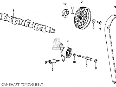 Honda Accord 1986 3dr Lxi Non-passive ka Camshaft-timing Belt