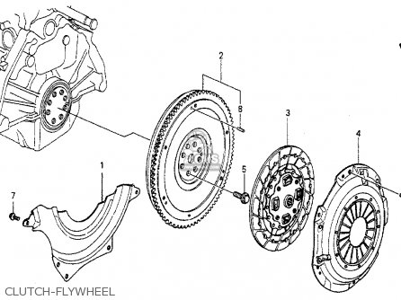 Honda Accord 1986 3dr Lxi Non-passive ka Clutch-flywheel
