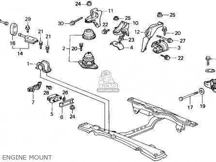 Honda Accord 1986 3dr Lxi Non-passive ka Engine Mount