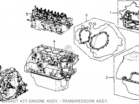Honda Accord 1986 3dr Lxi Non-passive ka Gasket Kit-engine Assy  -transmission Assy