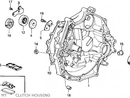 Honda Accord 1986 3dr Lxi Non-passive ka Mt      Clutch Housing